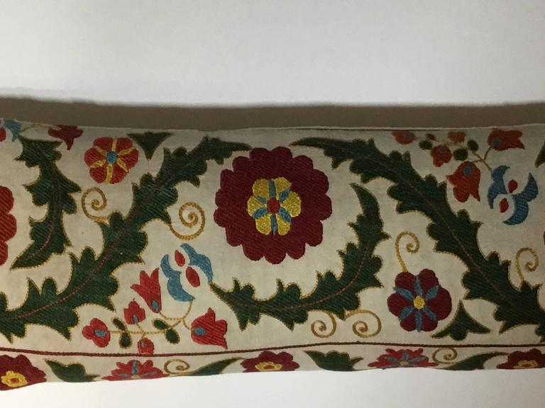 Cotton Hand Embroidery Suzani Pillow For Sale