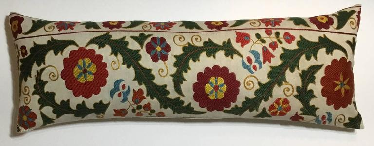 Hand Embroidery Suzani Pillow For Sale 1