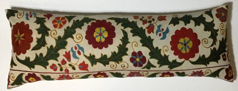 Hand Embroidery Suzani Pillow For Sale 2