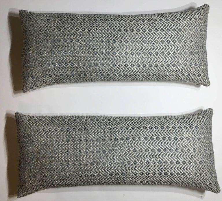 Elagent pair of pillow made of fine quality vintage French textile, frash inserts,