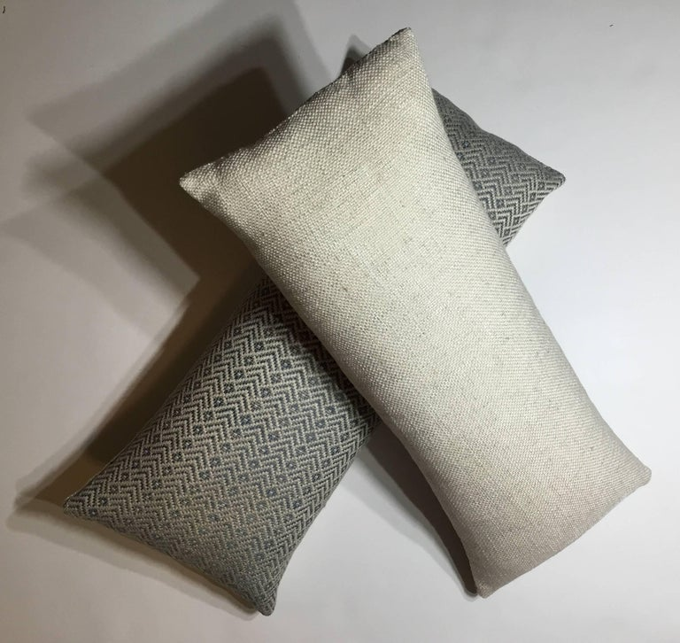 Pair of Geometric Motif Pillows For Sale 3