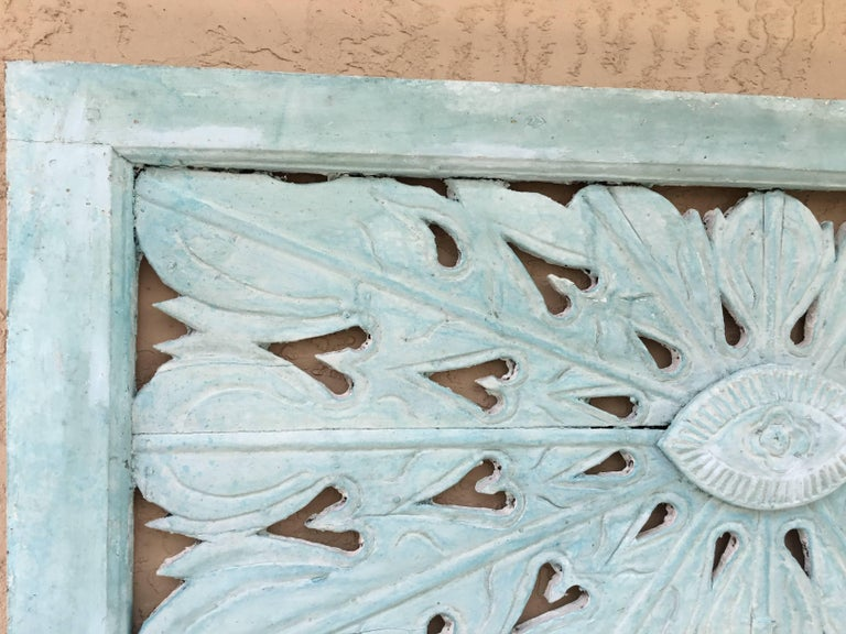 Antique Architectural Wood Hand Carving In Excellent Condition For Sale In Delray Beach, FL