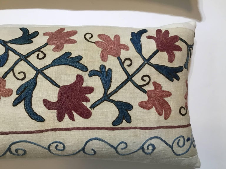 Uzbek Pair of Suzani Pillows For Sale