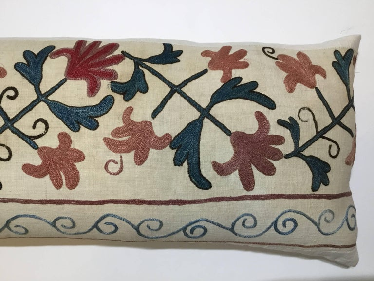 Cotton Pair of Suzani Pillows For Sale