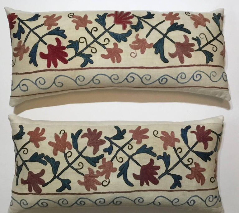 Pair of Suzani Pillows For Sale 2