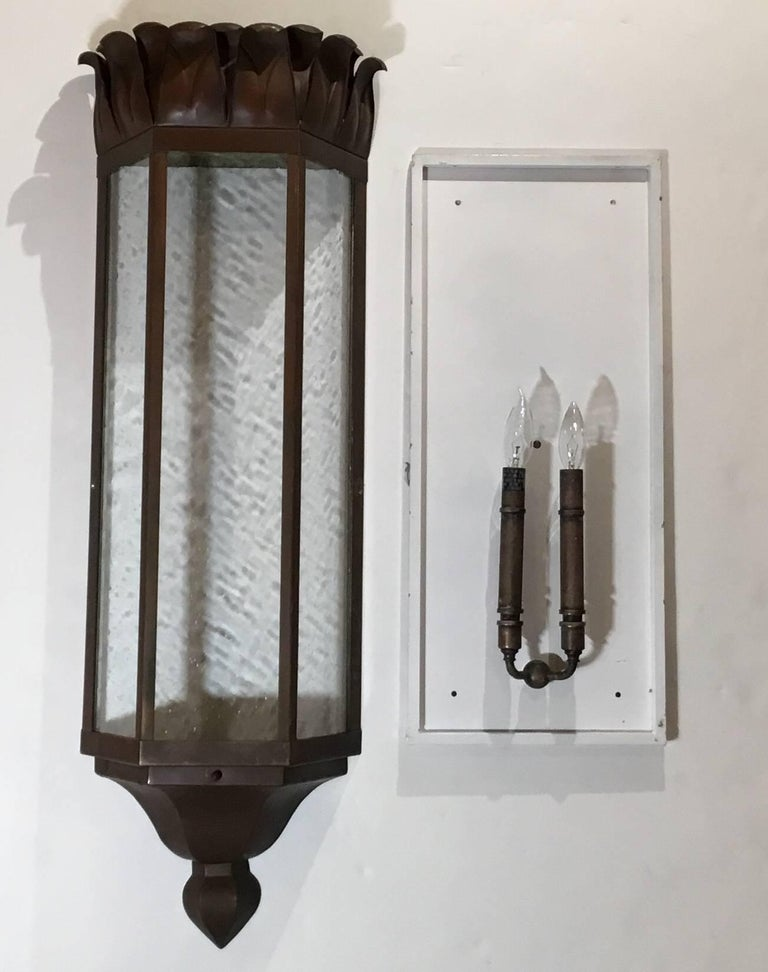 Large Pair of Art Deco Sconces 4