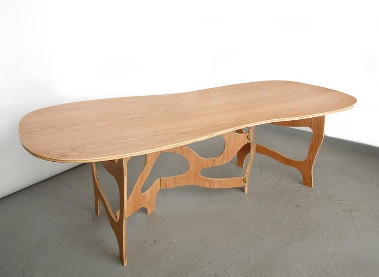 French Sculpture Dining Table by Jacques Jarrige For Sale