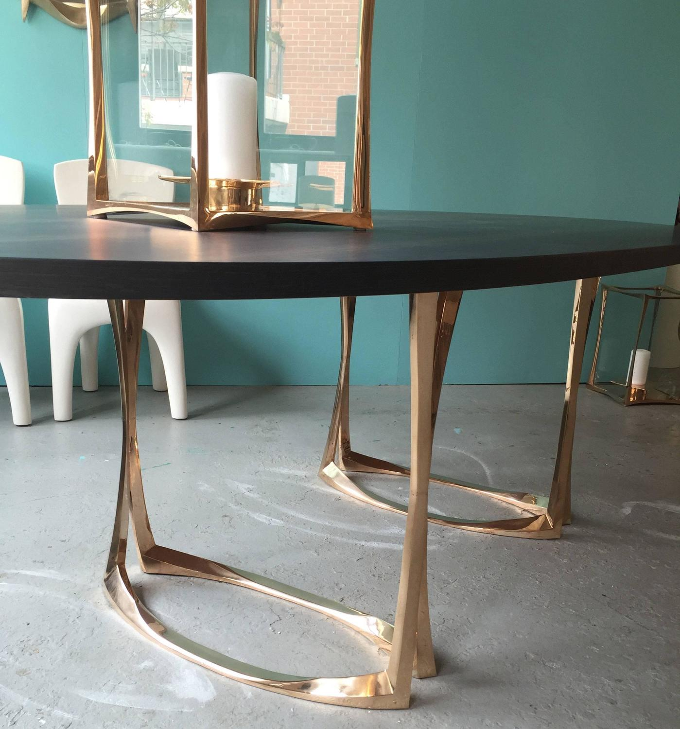 Dining Table with Bronze Legs and Marsh Oak Top by  : MillotTablelegsz from www.1stdibs.com size 1399 x 1500 jpeg 190kB