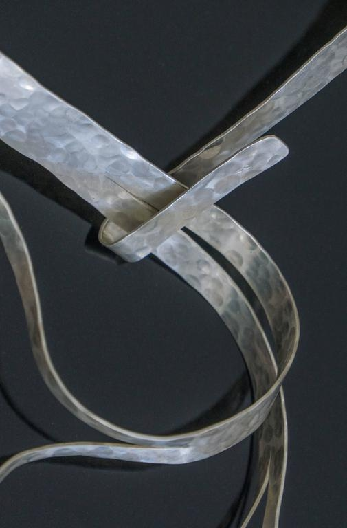 """Necklace in Silver Hand-Hammered by Jacques Jarrige """"Flora"""" 3"""