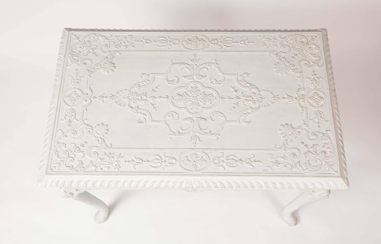 Carved English Gesso Center Table in the George I Taste For Sale