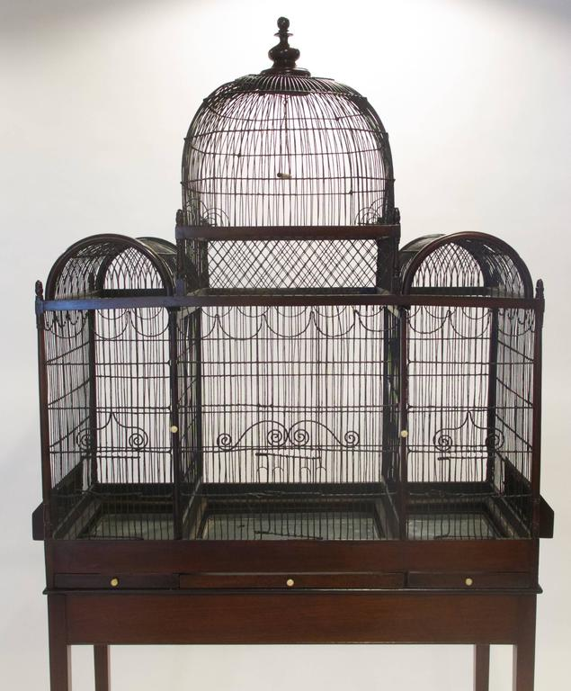British Fine and Rare English George III Birdcage on Stand, circa 1780 For Sale