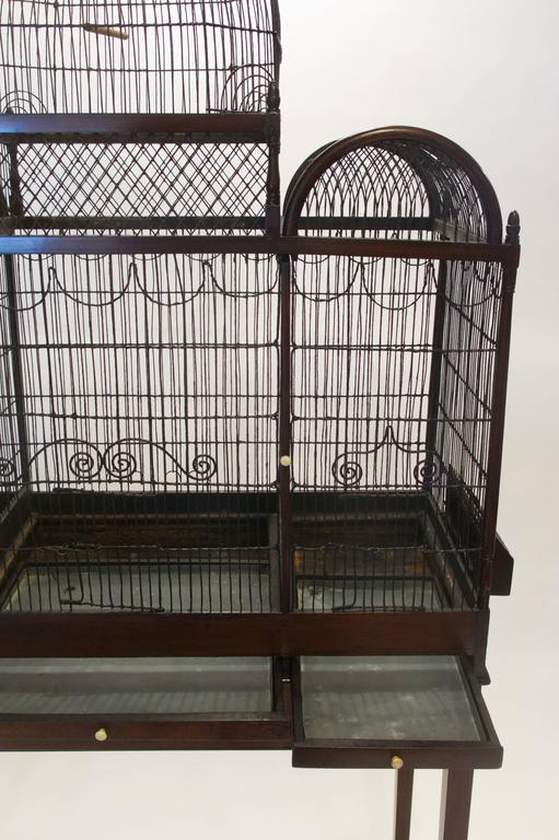18th Century Fine and Rare English George III Birdcage on Stand, circa 1780 For Sale