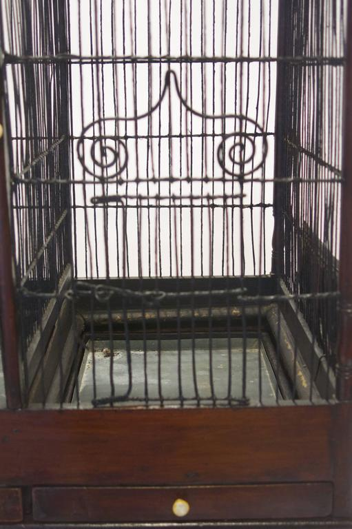 Fine and Rare English George III Birdcage on Stand, circa 1780 For Sale 2
