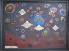 Ionel Talpazan Painting Dimensional Astronomy in Universe