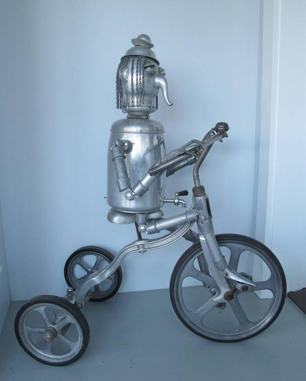 American Robot Riding an Aluminum Tricycle For Sale