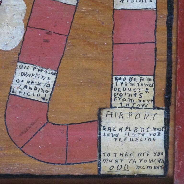 Folk Art Aviation Game Board For Sale