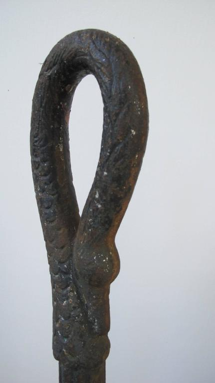 Cast Iron Swans Neck Horse Hitching Post For Sale At 1stdibs