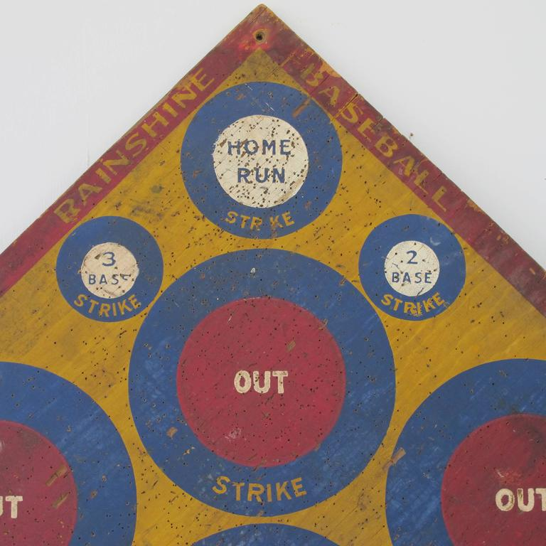 American Baseball Darts Game Board with Golf on Reverse For Sale
