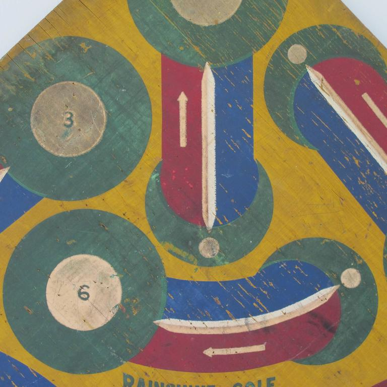 Baseball Darts Game Board with Golf on Reverse In Good Condition For Sale In New York, NY