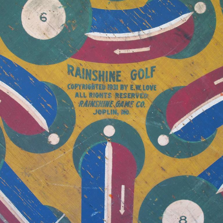 Mid-20th Century Baseball Darts Game Board with Golf on Reverse For Sale