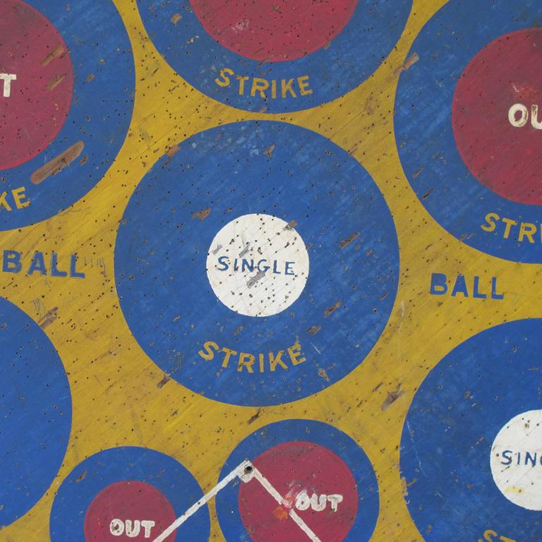 Baseball Darts Game Board With Golf On Reverse For Sale At