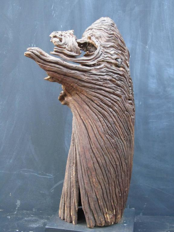 Outsider Artist Jesse Aarron Sculpture of Spirit in the Tree In Good Condition For Sale In New York, NY