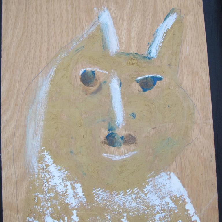 Outsider Art Jimmy Lee Sudduth Painting of a Dog For Sale