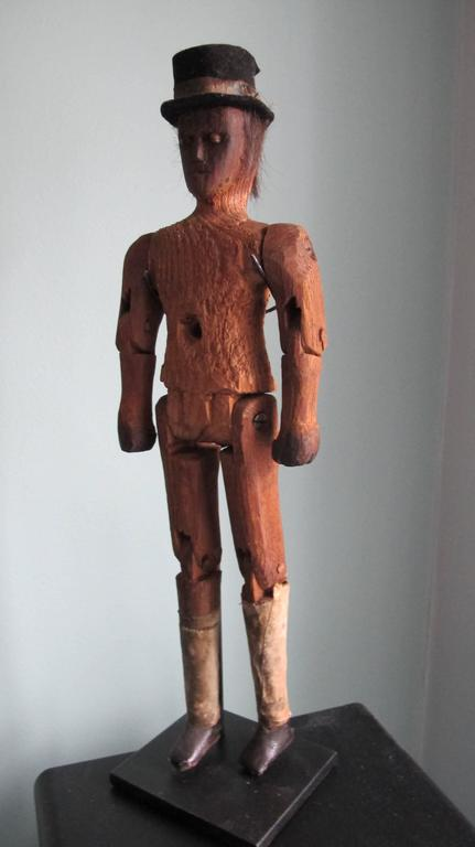 Articulated Folk Art Figure With Top Hat For Sale At 1stdibs