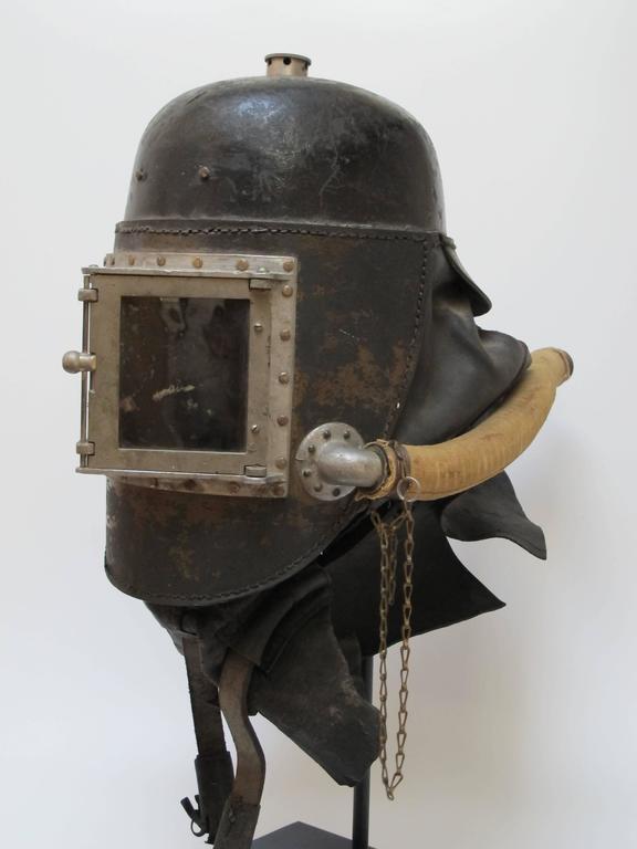 Siebe Gorman Fire Fighter Smoke Helmet At 1stdibs
