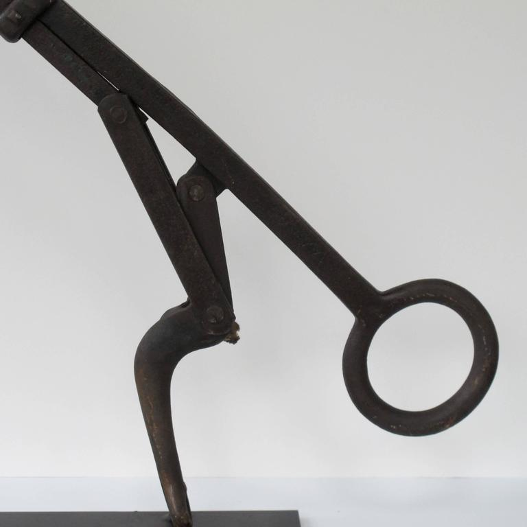 Machine Age Iron Tool Hay Bale Harpoon of Abstract Form For Sale