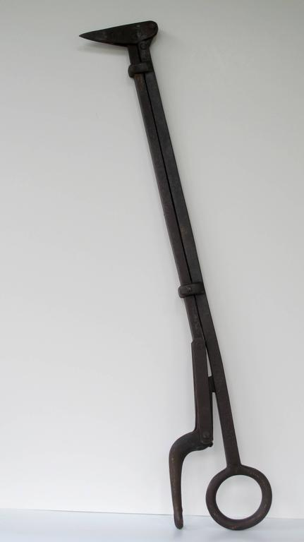 American Iron Tool Hay Bale Harpoon of Abstract Form For Sale