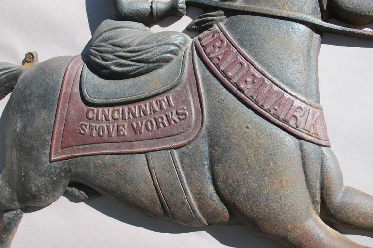 Cast Iron Horse And Rider Cincinnati Stove Works Trade