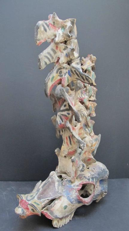 Painted Bone Fetish Assemblage Sculpture from Kansas Yard Show 8
