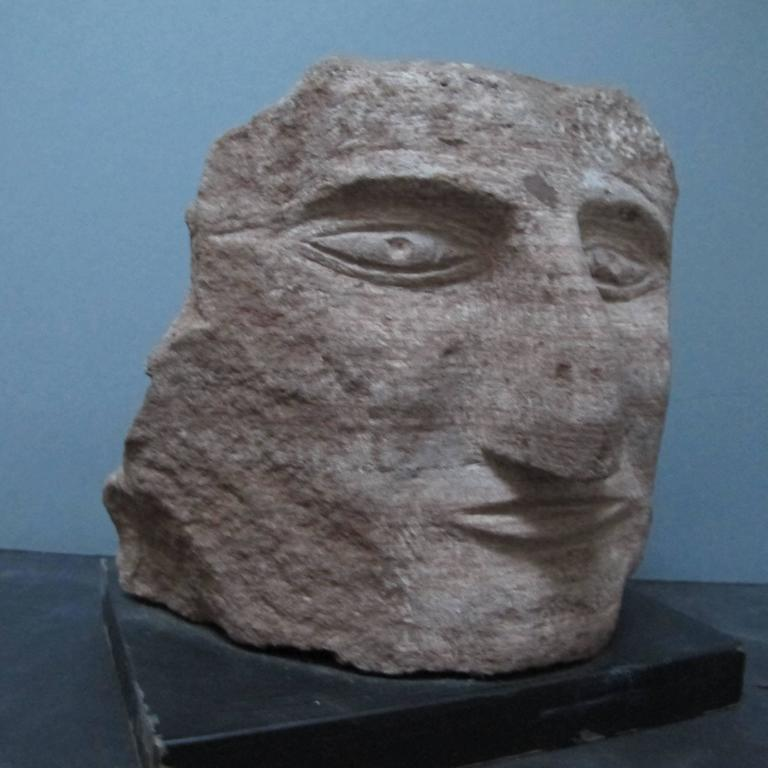 Ted Ludwiczak Banded Stone Carved Head 2