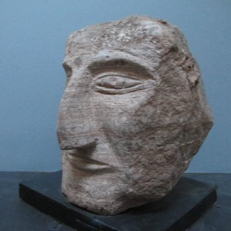 Ted Ludwiczak Banded Stone Carved Head 3