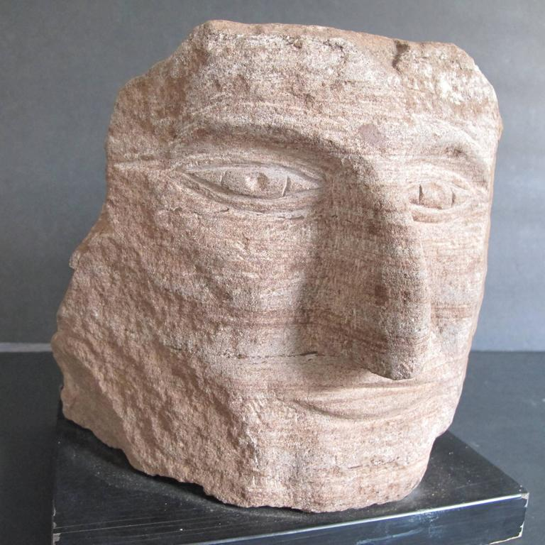 Ted Ludwiczak Banded Stone Carved Head 5