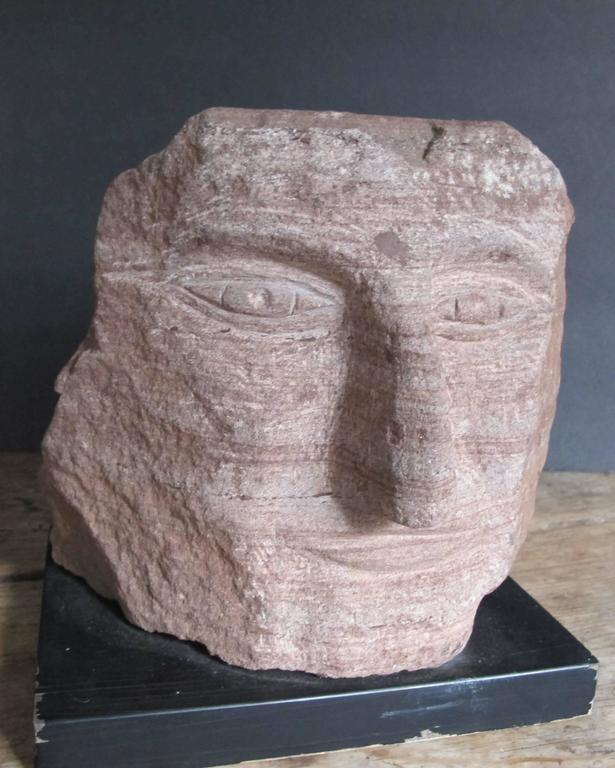 Ted Ludwiczak Banded Stone Carved Head 8
