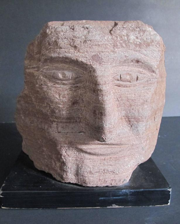 Ted Ludwiczak Banded Stone Carved Head 9