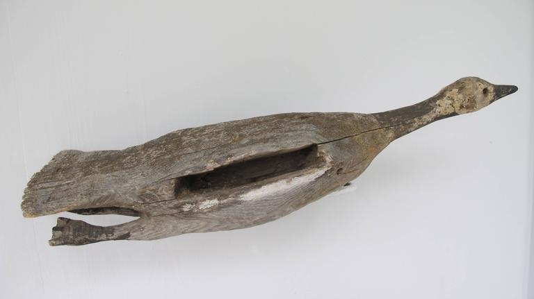 Wood Flying Canada Goose Folk Sculpture 5