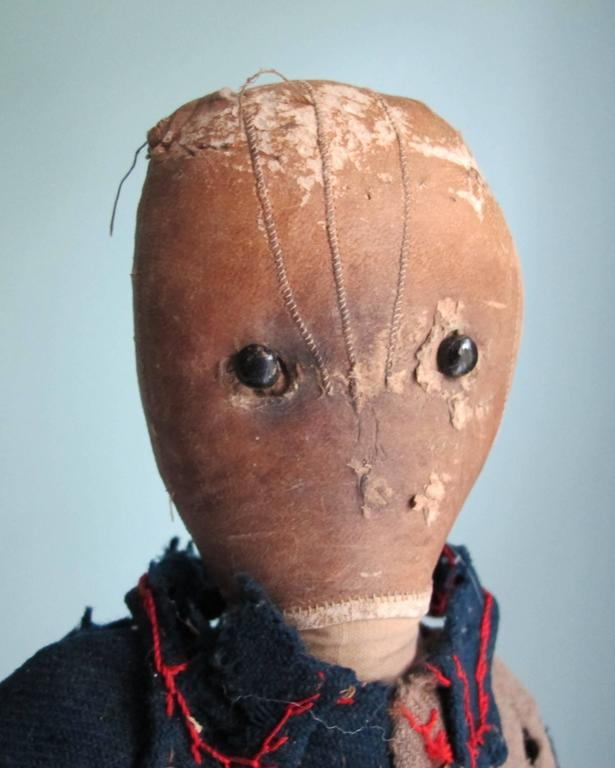 Folk Art Cloth Doll with Head Made from a Glove For Sale