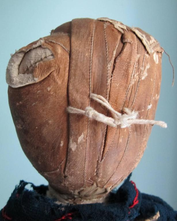 American Cloth Doll with Head Made from a Glove For Sale