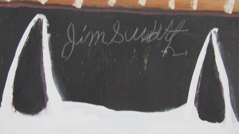 Jimmy Lee Sudduth Painting of His Famous Dog Toto 4