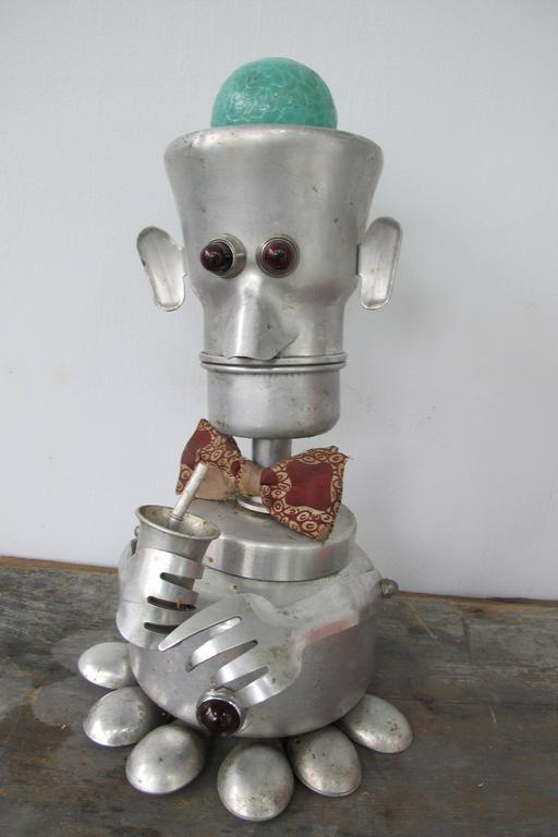 Jim Bauer 'Bow Tie Daddy' Aluminium Robot Sculpture 2