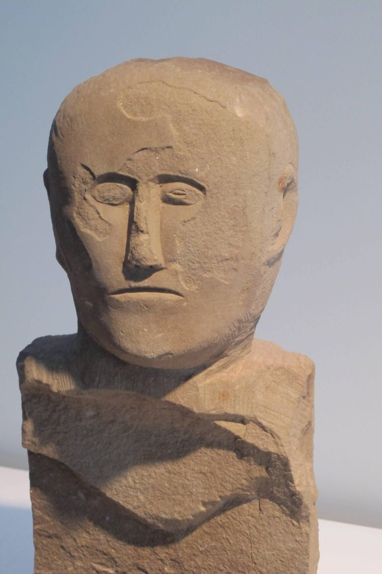 Carved stone bust at stdibs