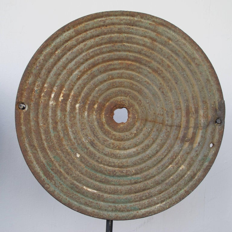 Folk Art Iron Bullseye Targets from Arcade Shooting Gallery For Sale