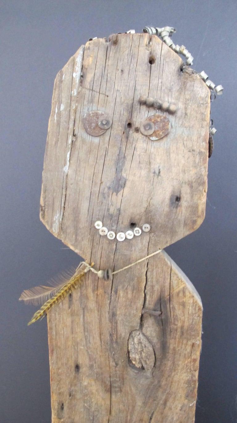 Mid-20th Century Wood Folk Art Figure For Sale
