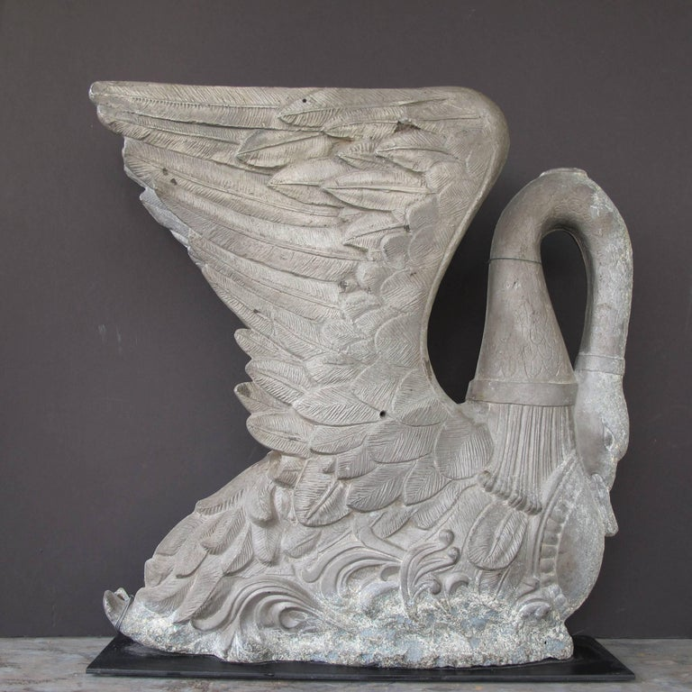 American Cast Metal Swan Sculpture Mold For Sale