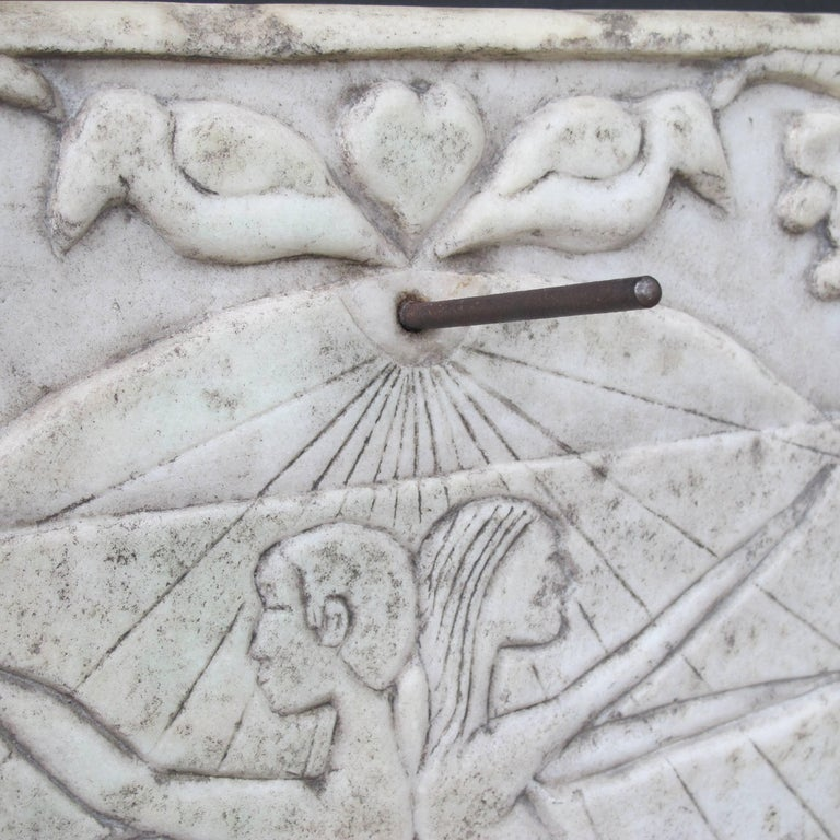 Marble Sundial with Incised Figures by HD 2