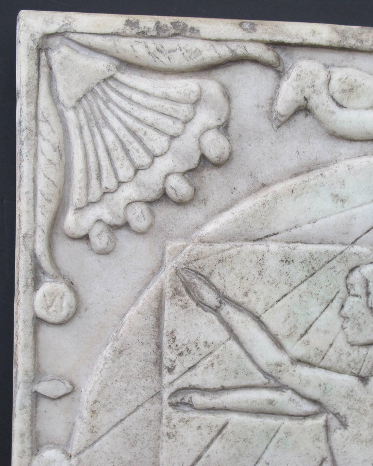 Marble Sundial with Incised Figures by HD 6