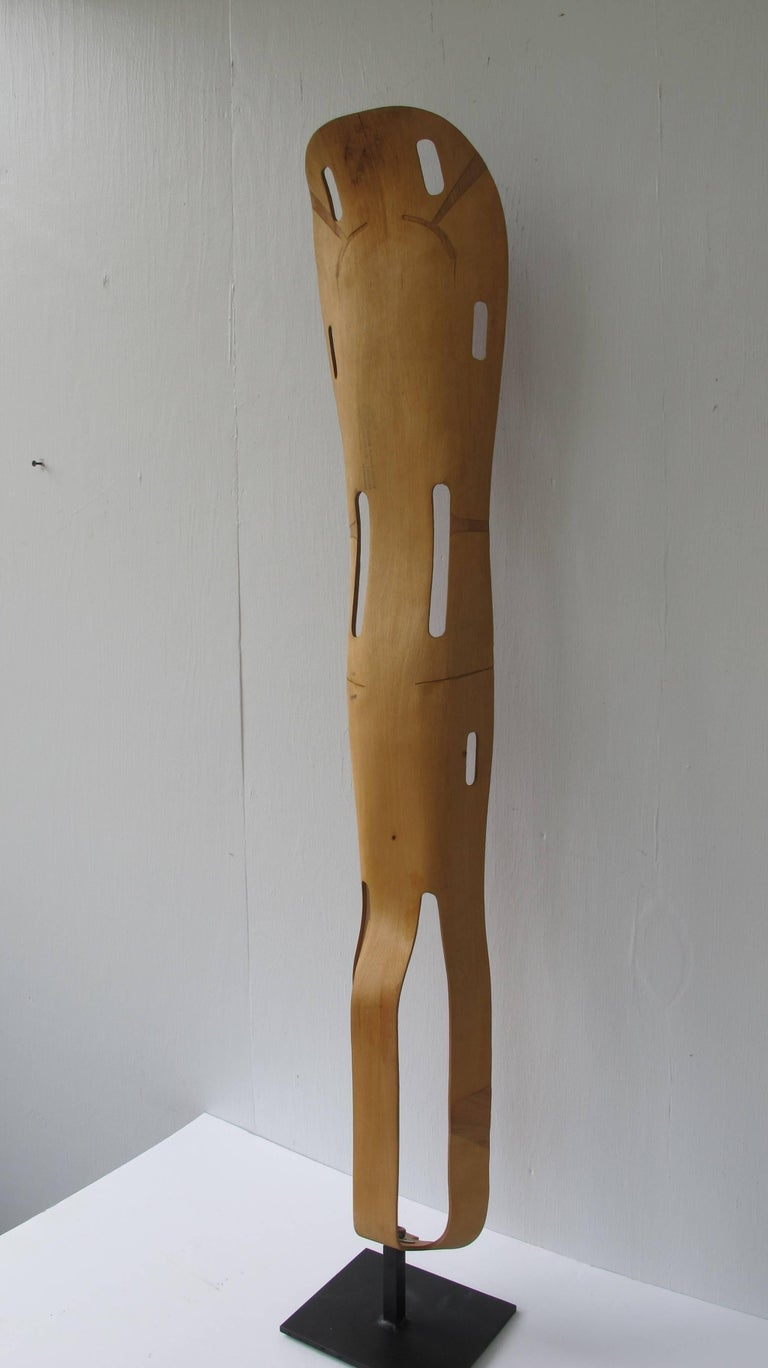 Charles and Ray Eames designed leg splint of sculptural and lightweight design. Made by Evans Products for the US military for use in WWII.